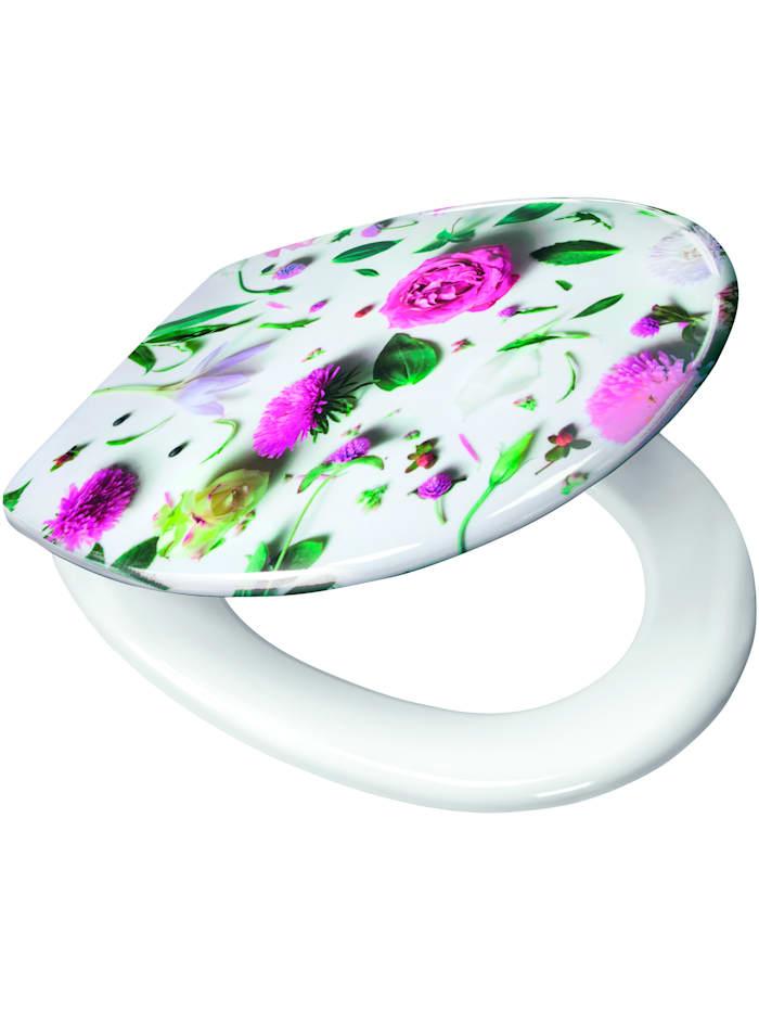 Toalettsete med blomstermønster