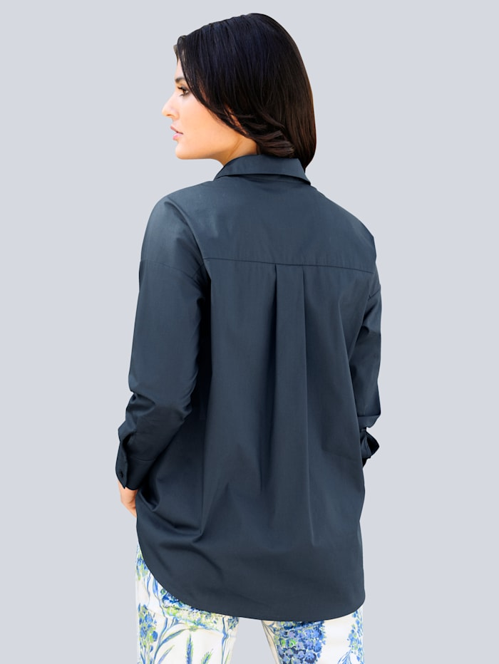 Bluse in aktueller Hemdblusenform