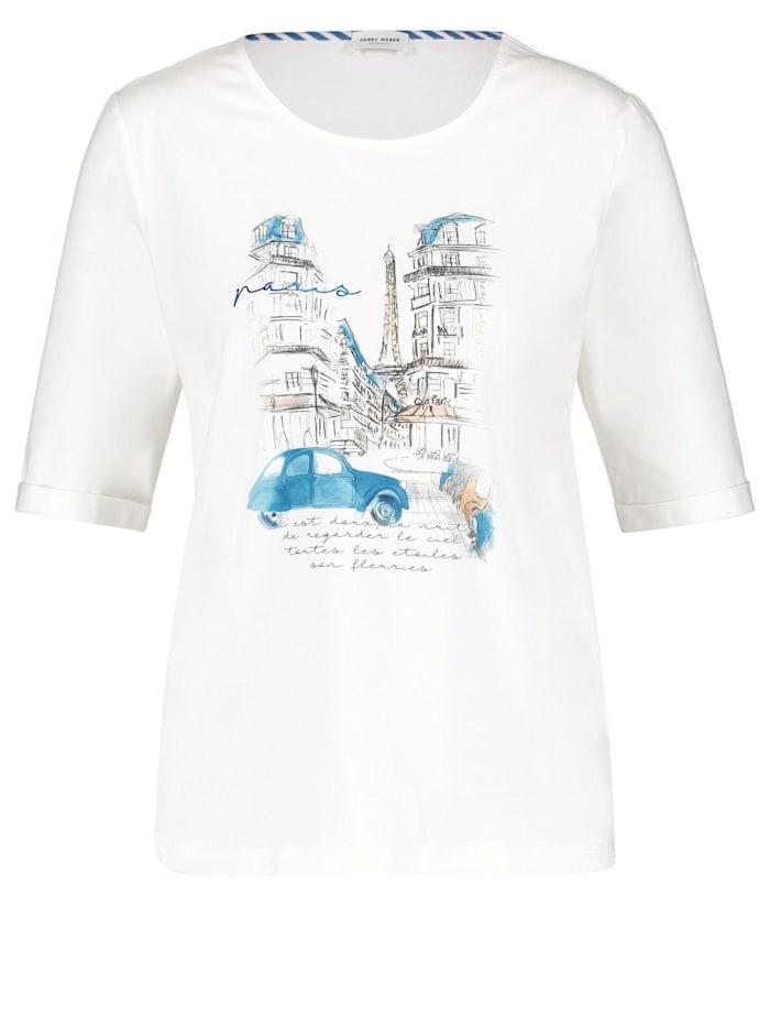 Gerry Weber Shirt mit Frontdruck, Off-white