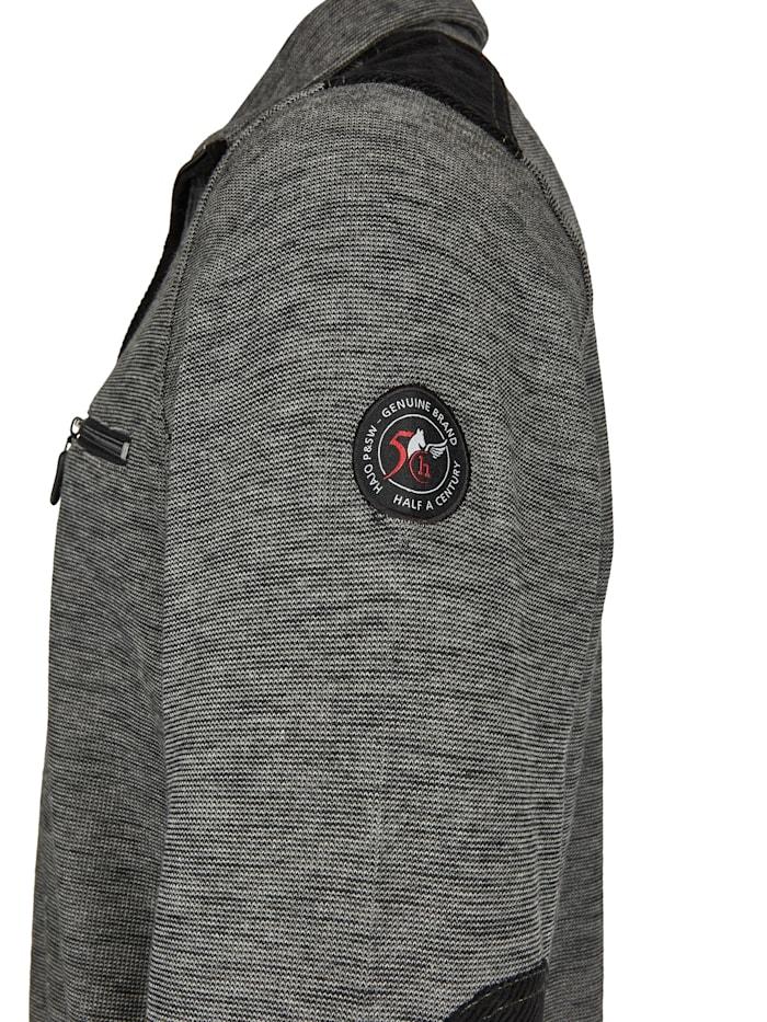 Sweatshirt in Slub-Melange