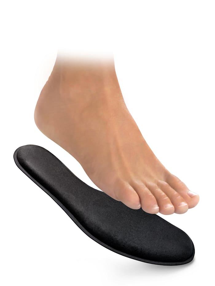 FußGut Memory-Komfort-Einlage individuell anpassend, Schwarz