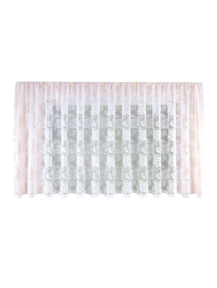Webschatz Ornamentová záclona, biela