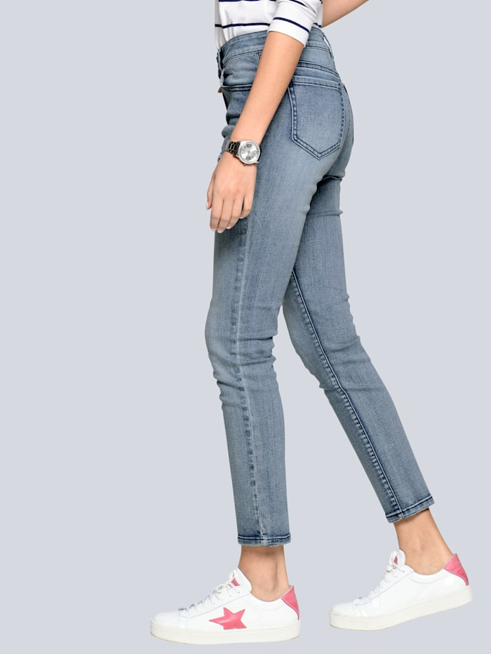 Jeans met cut-outs in stervorm