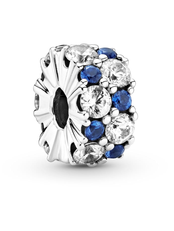 Pandora Clip-Charm -blauer Funke- 799171C01, Silberfarben