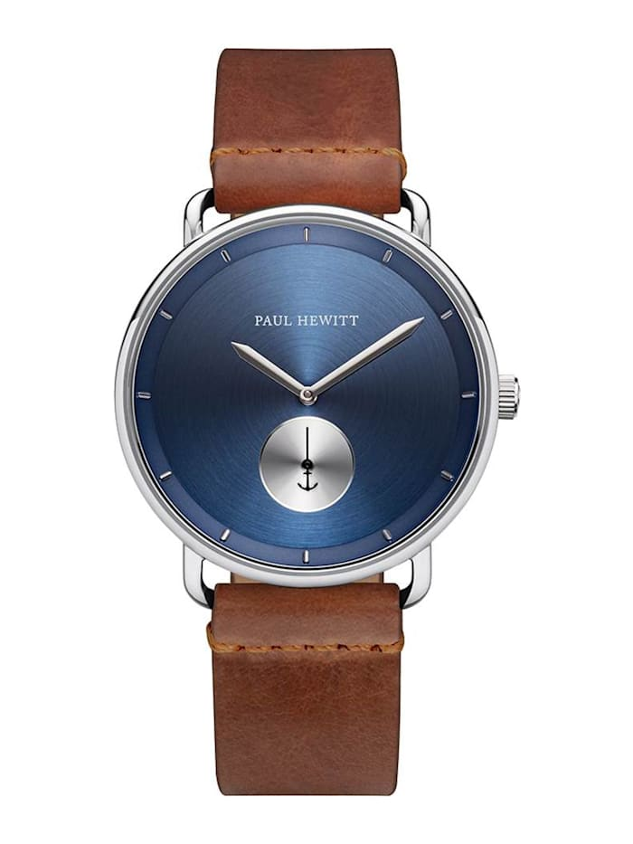 Paul Hewitt Paul Hewitt Herren-Uhren Analog Quarz, braun/blau