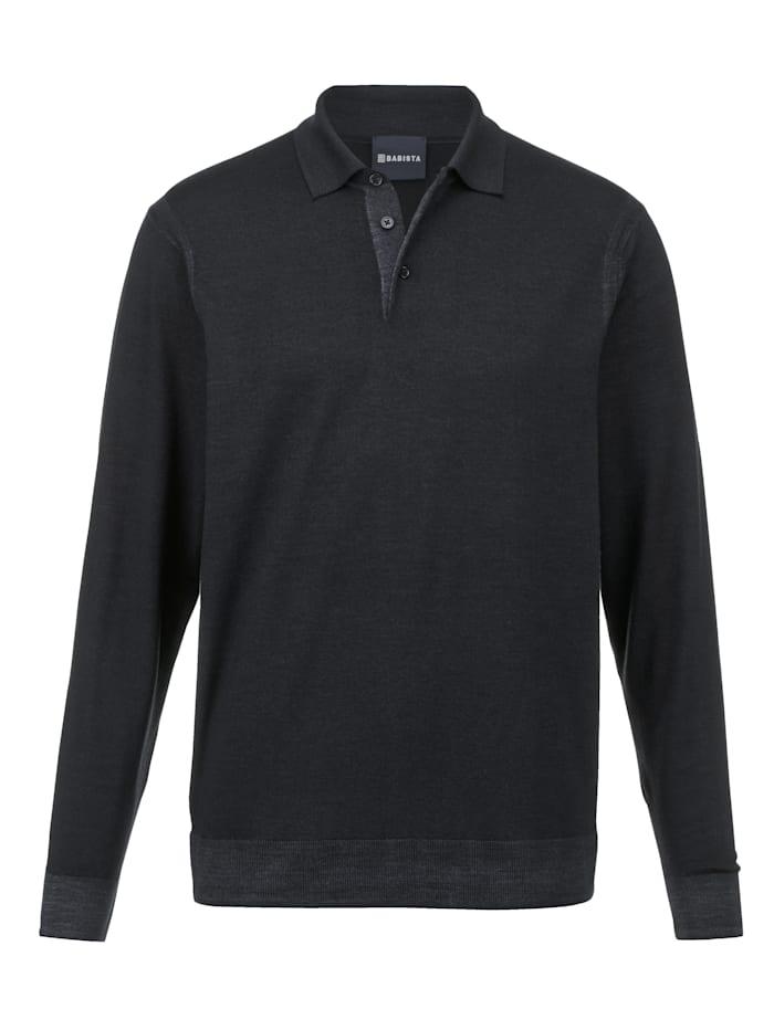 Babista Premium Pull-over en pure laine mérinos, Bleu foncé