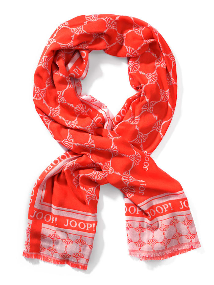 JOOP! Schal mit Logo-Muster, Orange