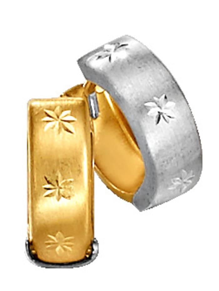 Créoles, Coloris or jaune/Coloris argent