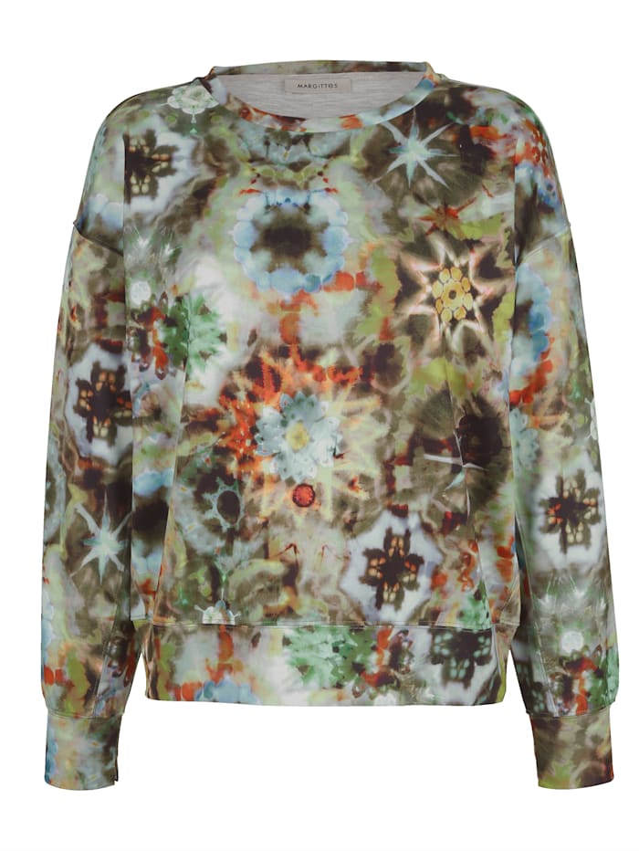 MARGITTES Sweatshirt mit modischem Druck, Oliv