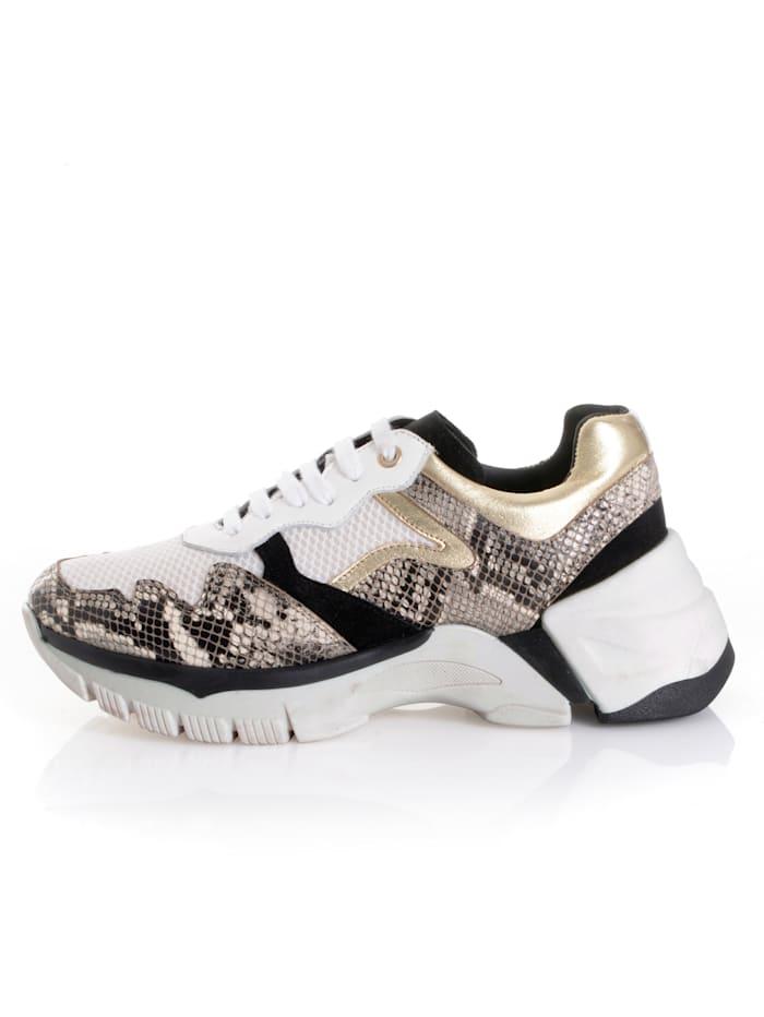 Sneaker met trendy dessinmix