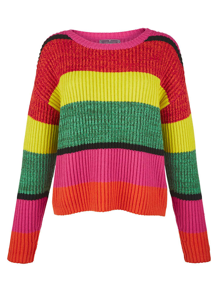 Pullover mit Blockstreifen allover