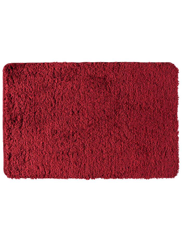 Wenko Badteppich Mélange Chili, 60 x 90 cm, Mikrofaser, Polyester/Mikrofaser: Rot