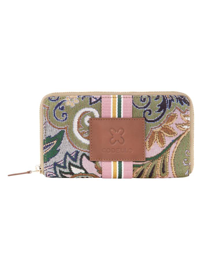 Codello Geldbörse im Gobelin-Style aus Canvas, light grey