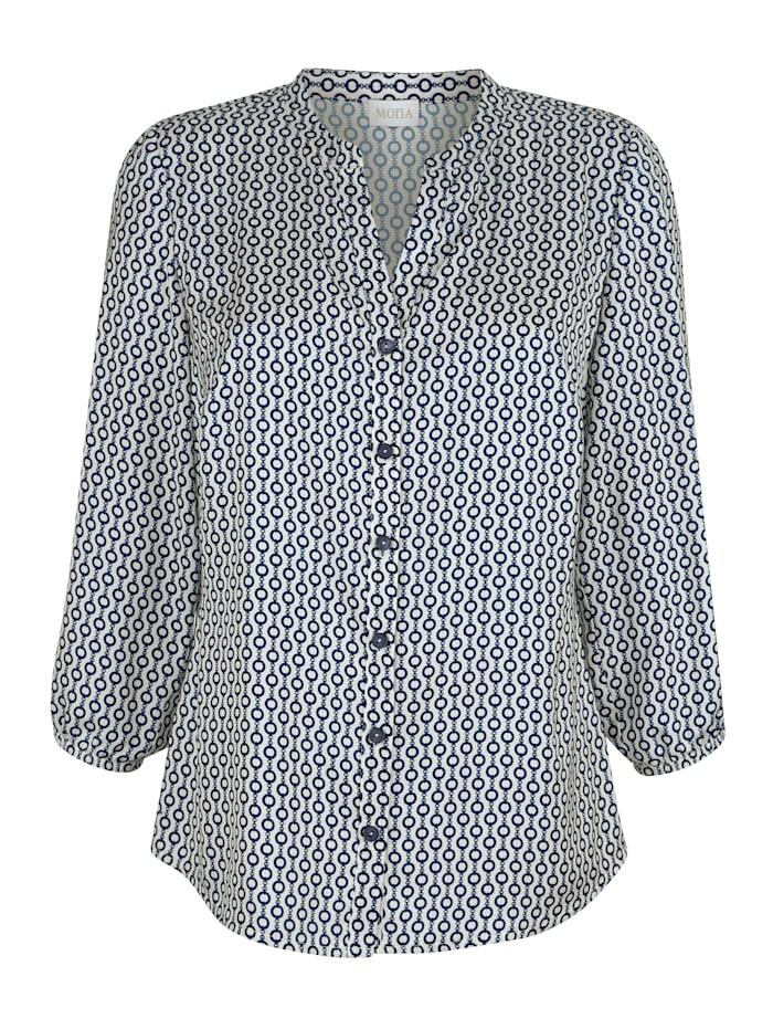Bluse mit grafischem Muster