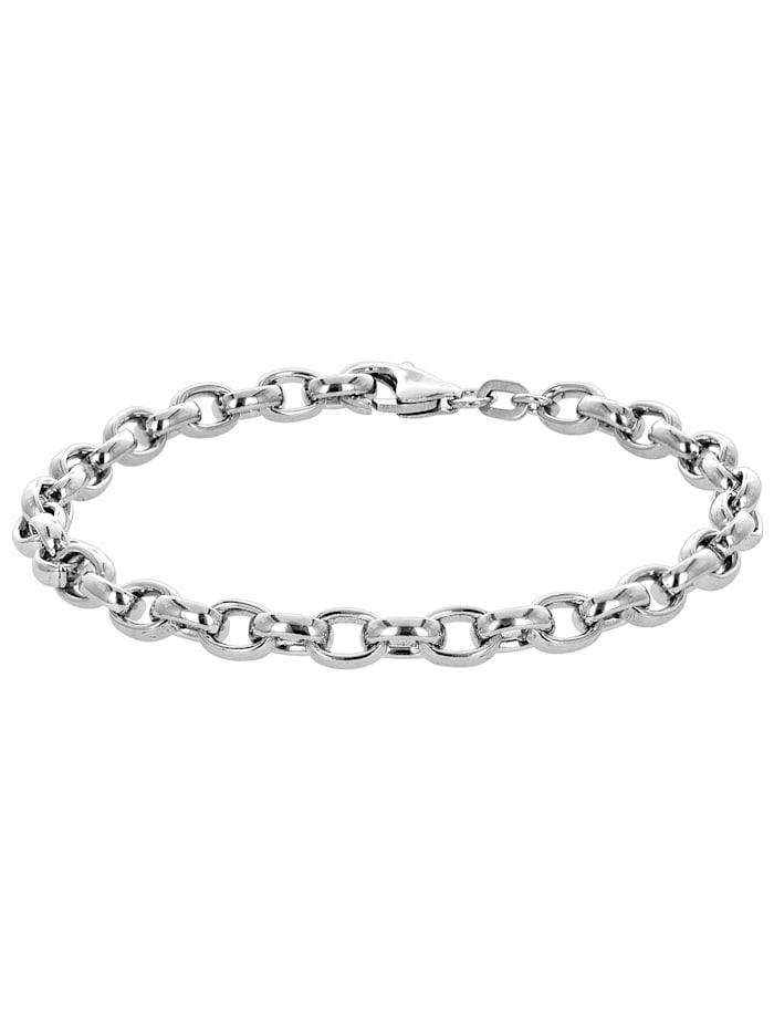 trendor Armband 925 Silber Erbsmuster, Silberfarben