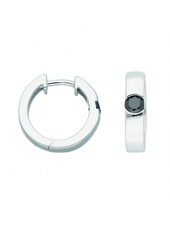1001 Diamonds Damen Silberschmuck 925 Silber Ohrringe / Creolen mit Zirkonia Ø 15,5 mm, bunt