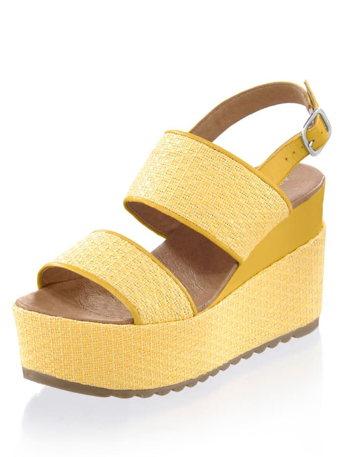 Alba Moda Sandalette in sommerlichem Design, Gelb