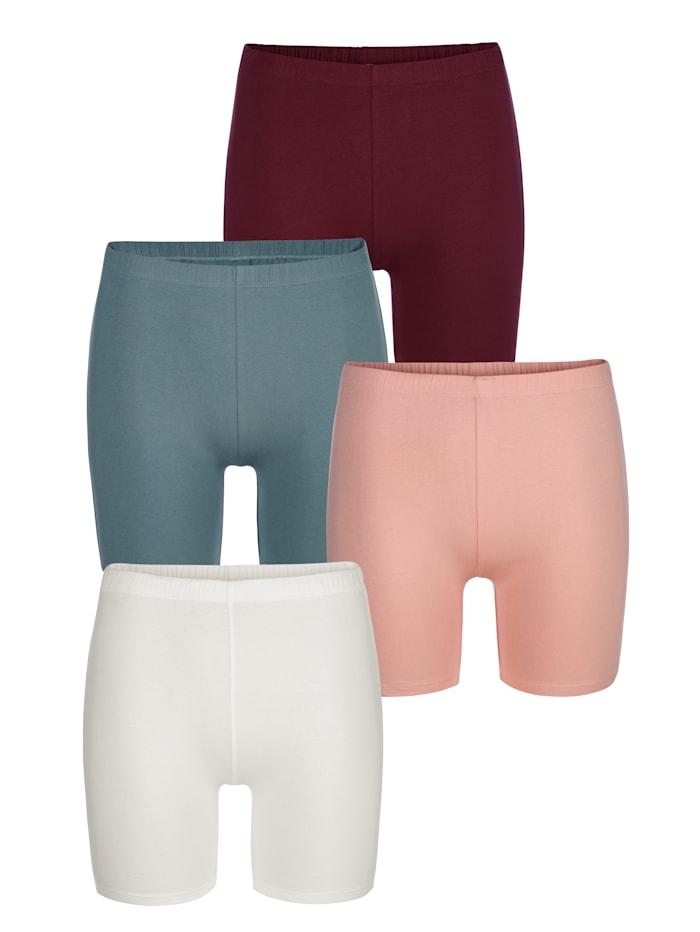 Blue Moon Lange boxershorts per 4 stuks, Bordeaux/Apricot/Vanille/Turquoise