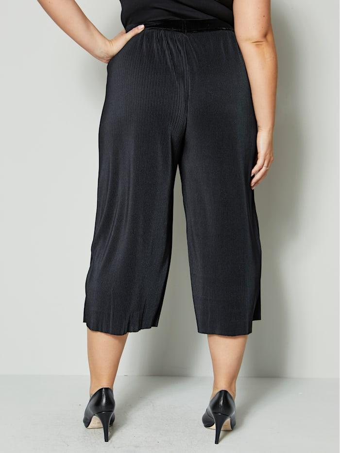 Jupe-culotte d'aspect finement plissé