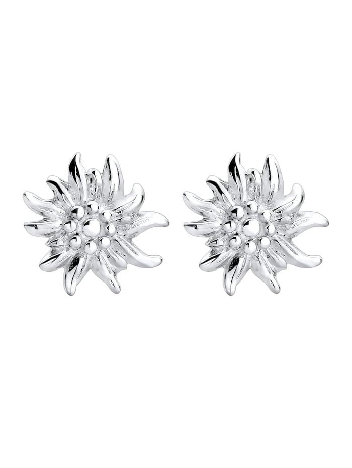 Ohrringe Wiesn Oktoberfest Edelweiss Filigran 925 Silber
