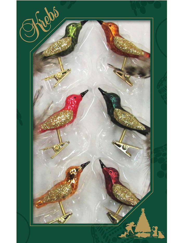 Minivögel auf Clip