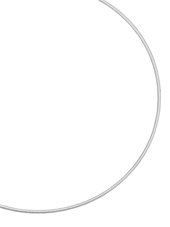Amara Silber Schlangenkette, Weiß