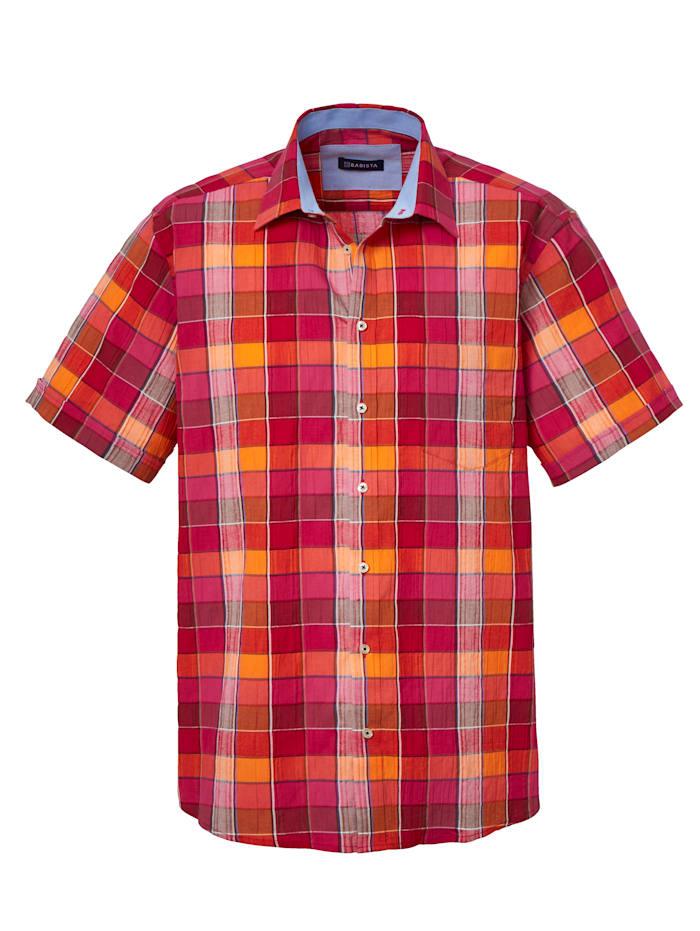 BABISTA Overhemd van onderhoudsarm materiaal, Rood/Oranje