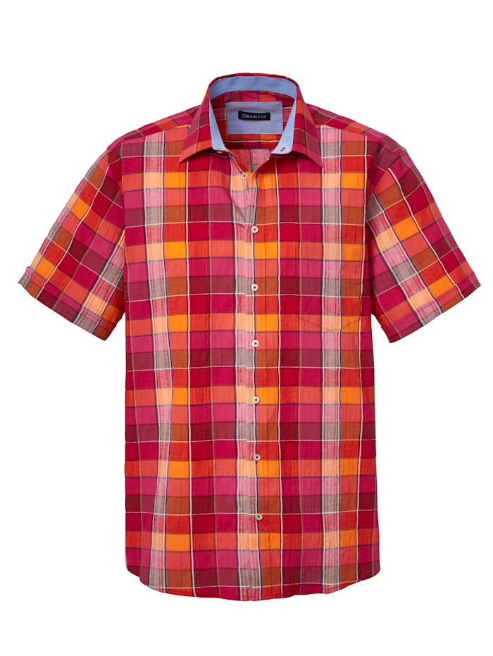 BABISTA Seersuckerhemd mit pflegeleichten Eigenschaften, Rot/Orange