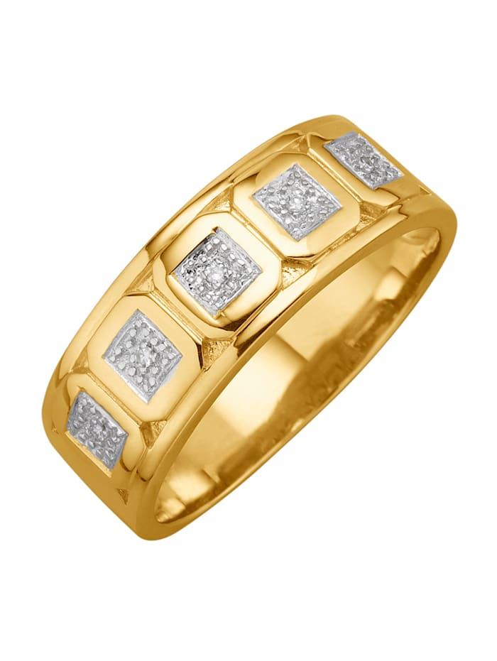 Diemer Diamant Herrenring mit Diamanten, Gelbgoldfarben