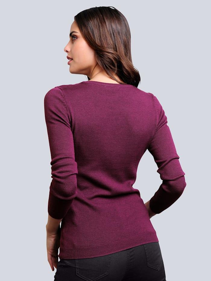 Pullover mit transparenter Spitze im Vorderteil