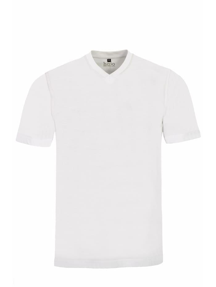 Hajo T-Shirt Doppelpack V-Ausschnitt Große Größen, weiß
