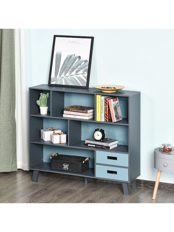 Bücherregal mit 2 Schubladen