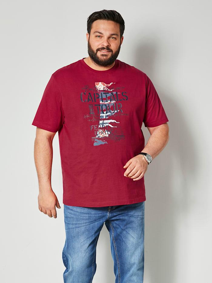 Men Plus T-shirt, Robijnrood