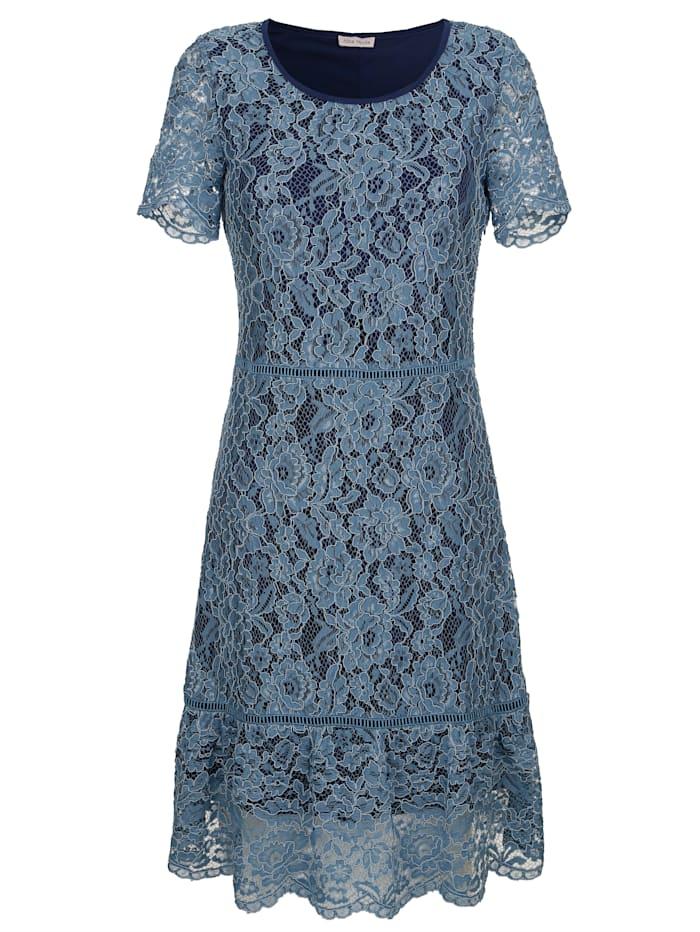 Alba Moda Strandkleid aus Spitze, Jeansblau