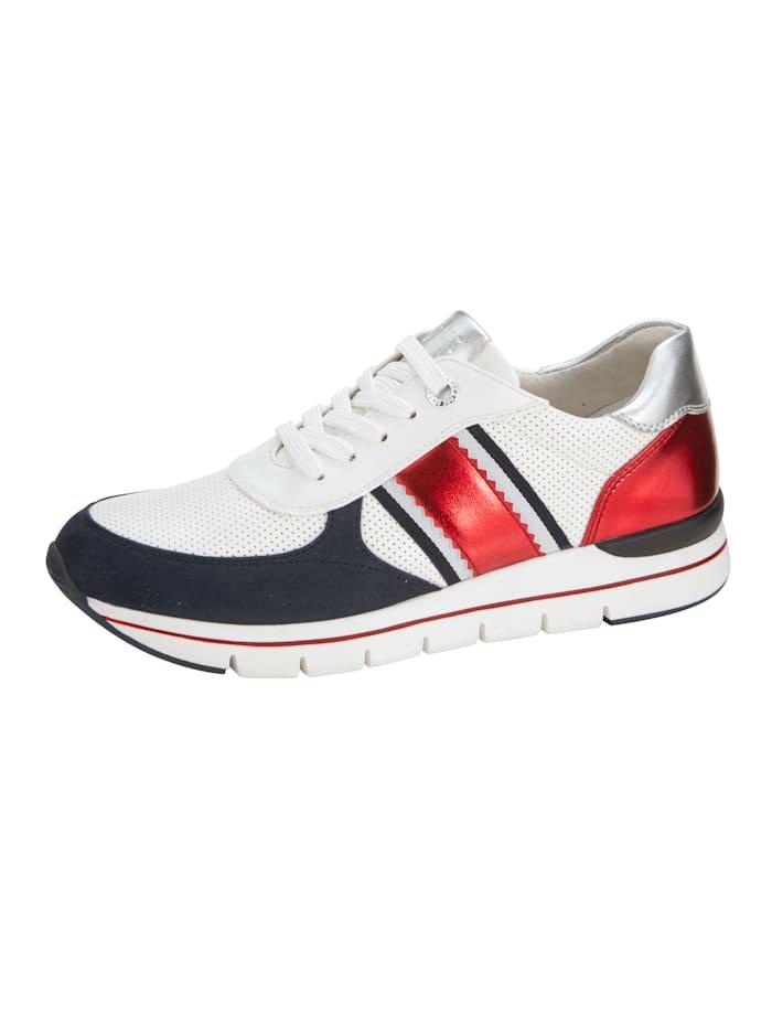 Marco Tozzi Sneakers, Hvit/Rust