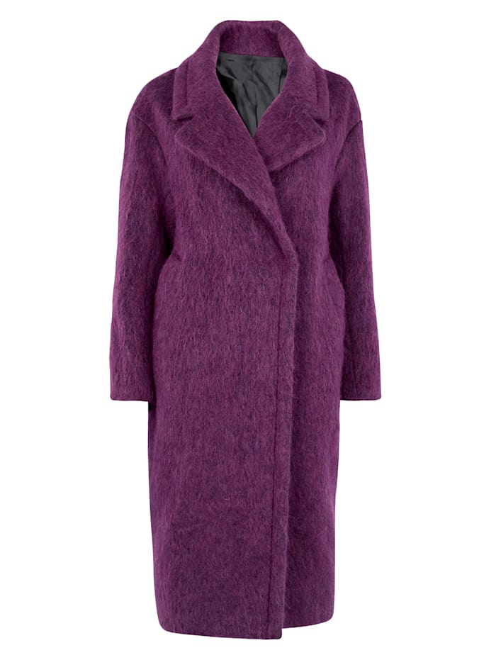 Jacket with luxe alpaca