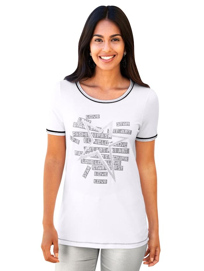AMY VERMONT Shirt met glitterprint, Wit