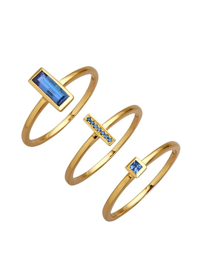 Diemer Farbstein 3-delige ringenset, Blauw