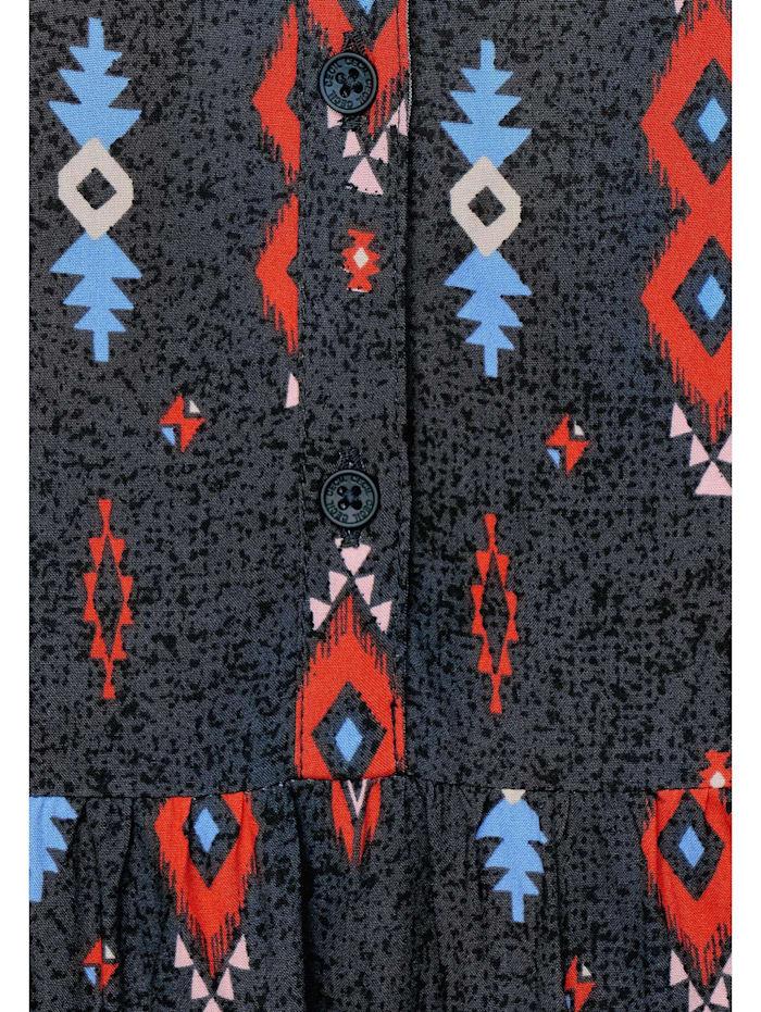 Midi-Kleid mit Ikat-Print