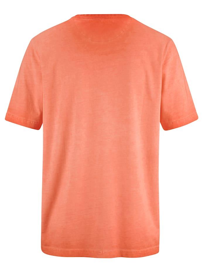 Oil dyed -käsitelty puuvillainen T-paita