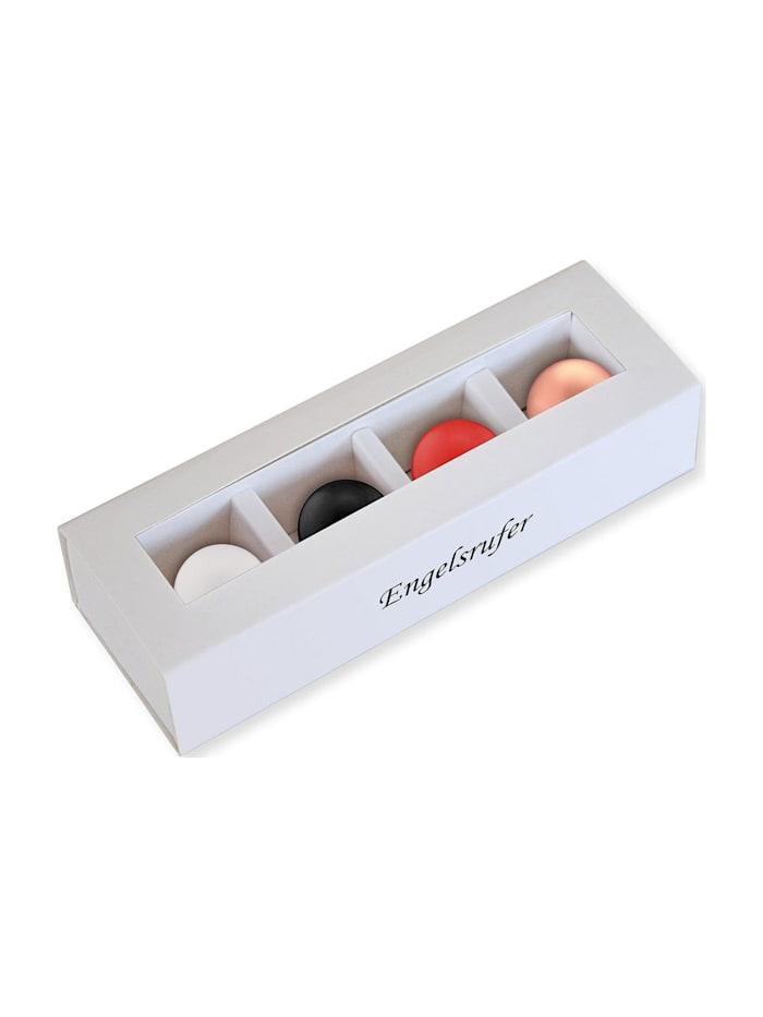 Engelsrufer Engelsrufer Damen-Accessoires Set 4 Klangkugel mit Box Messing, mehrfarbig/weiß/schwarz/rot/gold