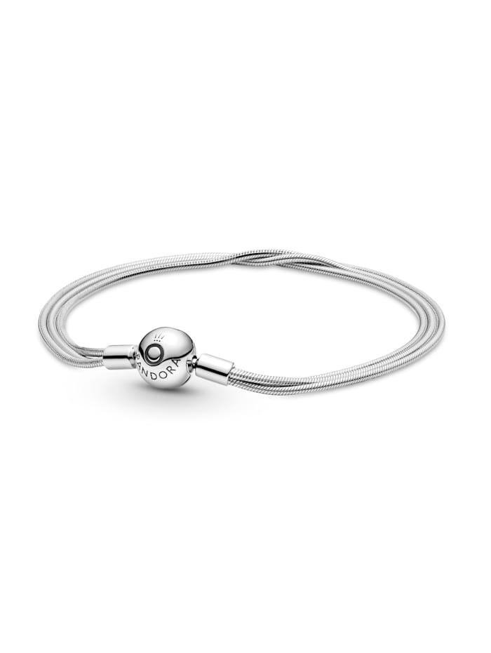 Pandora Armband Pandora Logo 599338C00-19, Silberfarben