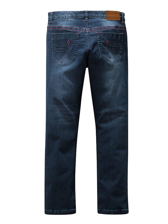 Jeans met contrastnaden