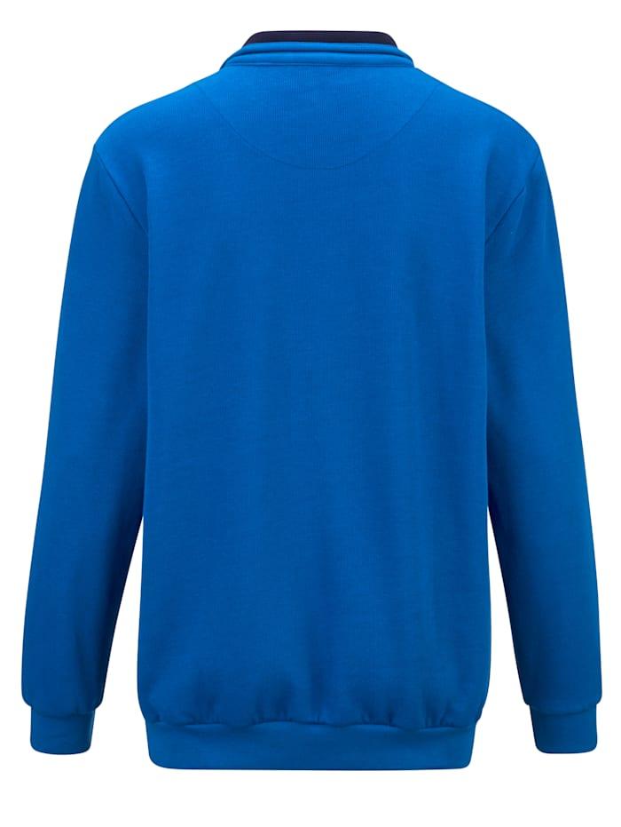 Sweatshirt in feiner Ripp-Struktur