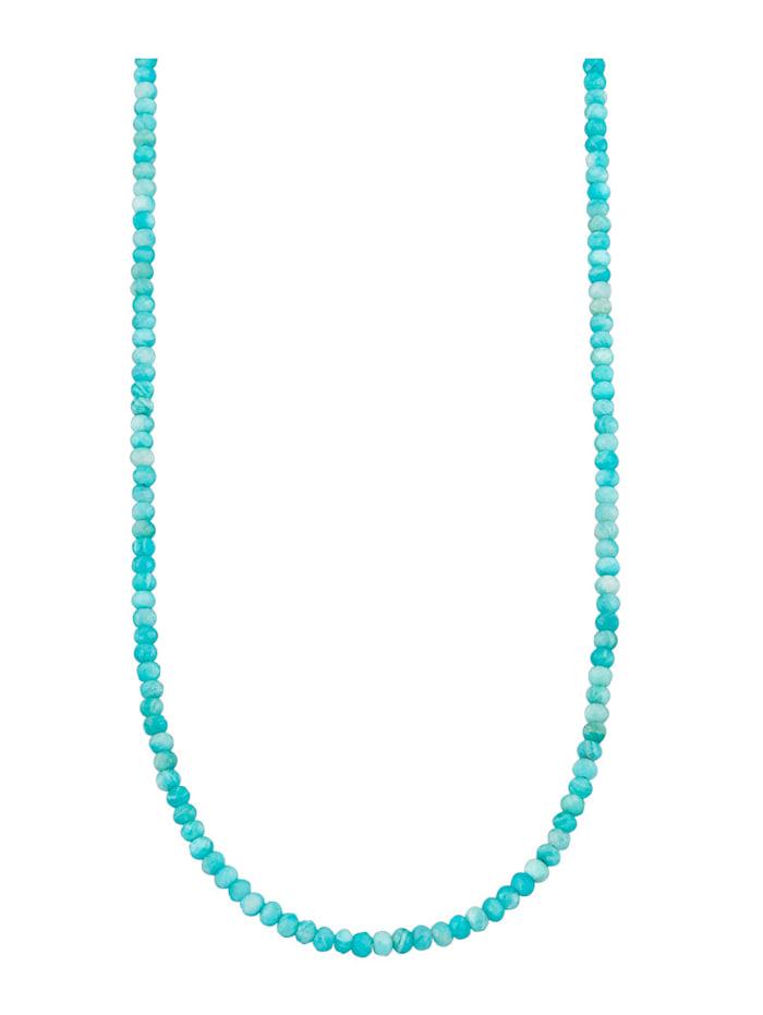 Diemer Highlights Halsband av amazonit med elegant karbinlås, Grön