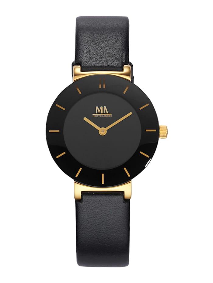 Meister Anker Pelkistetty naisten kello, Musta