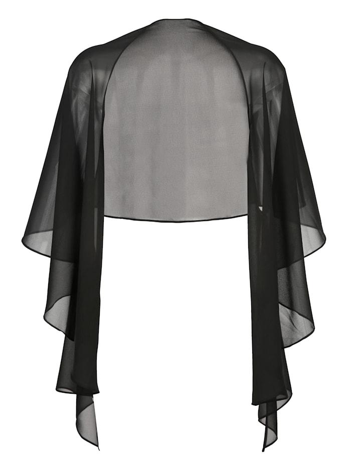 Blusenjacke als Bolero oder Stola tragbar