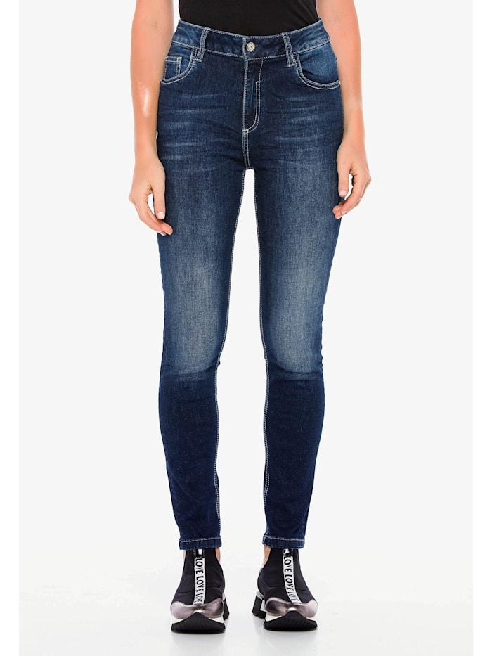 Cipo & Baxx Jeanshose im Slim Fit-Schnitt, Dark Blue
