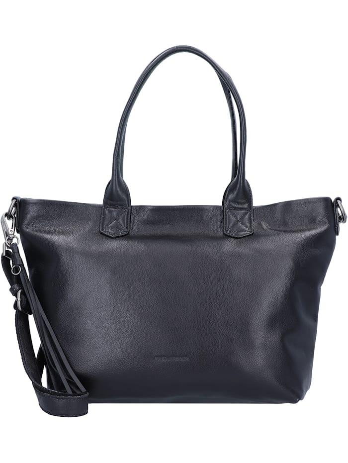 FredsBruder Shorty Zoom Shopper Tasche Leder 31 cm, black
