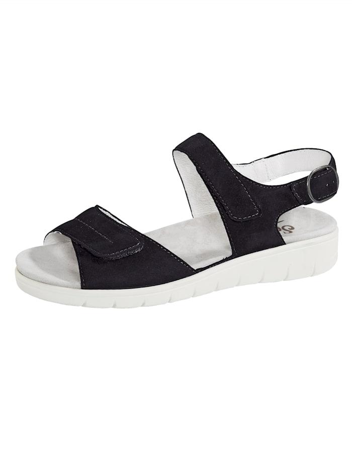Semler Sandale mit Luftpolsterlaufsohle, Dunkelblau